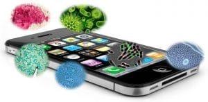 dezinfekcija polnjenje mobilnikov