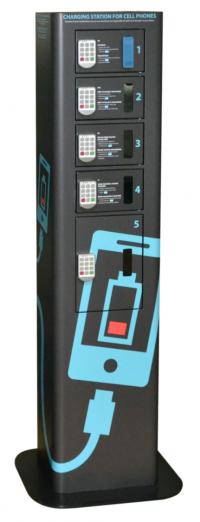 Dezinfekcijska polnilna postaja za telefone na javnih lokacijah